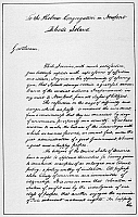 0089697 © Granger - Historical Picture ArchiveWASHINGTON: LETTER, 1790.   Letter by President George Washington to the Hebrew Congregation of Newport, Rhode Island, August 1790, assuring the congregation that the 'United States gives to bigotry no sanction.'