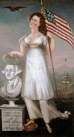 0102252 © Granger - Historical Picture ArchiveWASHINGTON & LIBERTY, c1810.   Oil painting by an anonymous artist, c1810.