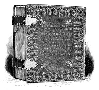 0354928 © Granger - Historical Picture ArchiveWASHINGTON: BIBLE, 1789.   Bible used at the inauguration of George Washington, 1789, owned by St. John's Lodge in New York City. Drawing, American, 1889.