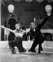 0058094 © Granger - Historical Picture ArchiveROGERS AND ASTAIRE, 1936.   Ginger Rogers (1911-1995) and Fred Astaire (1899-1987). American performers. Still from the motion picture 'Follow the Fleet' (1936).