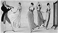 0077155 © Granger - Historical Picture ArchiveDANCE: WALTZ, c1810.   'The Dancing-Mania.' A dancing lesson in Paris, France. Engraving from 'Le Bon Genre,' c1810.