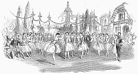 0093736 © Granger - Historical Picture ArchiveBALLET: FETE DES ROSIERES.   A performance of the 'Fete des Rosieres,' at Her Majesty's Theatre, London, England in 1852. Wood engraving from a contemporary English newspaper.