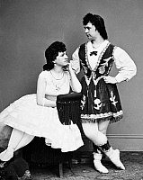 0094114 © Granger - Historical Picture ArchiveDANCERS, 19th CENTURY.   Dancers Laura le Claire and Lottie Forbes. Photographed by Mathew Brady or one of his assistants, 19th century.
