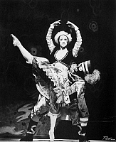 0128689 © Granger - Historical Picture ArchiveBALLET: PETROUCHKA.   Eleanor D'Antuono and Bruce Marks performing in an American Ballet Theatre production of 'Petrouchka,' with choreography by Michel Fokine and music by Igor Stravinsky, c1970.