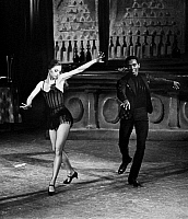 0128691 © Granger - Historical Picture ArchiveBALLET: FARRELL & MITCHELL.   Suzanne Farrell and Arthur Mitchell performing in a New York City Ballet production of 'Slaughter on Tenth Avenue,' with choreography by George Balanchine and music by Richard Rodgers, c1968.