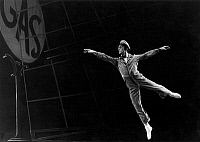 0128695 © Granger - Historical Picture ArchiveBALLET: FILLING STATION.   John McFall performing in a San Francisco Ballet production of 'Filling Station,' choreographed by Lew Chritensen, c1972.