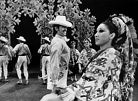 0172611 © Granger - Historical Picture ArchiveMEXICAN FOLK DANCE, c1970.   Aida Polanco as The Bride, dancing the huapango in 'Wedding of the Huasteca,' by the Ballet Folklorico de Amalia Hernandez, c1970.