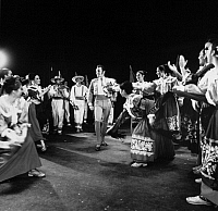0172615 © Granger - Historical Picture ArchiveMEXICAN FOLK DANCE, c1970.   Scene from 'The Tarascans,' by the Ballet Folklorico de Mexico de Amalia Hernandez, c1970.