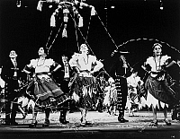 0172622 © Granger - Historical Picture ArchiveMEXICAN FOLK DANCE, c1970.   Dancers in a scene by the Ballet Folklorico de Mexico de Amalia Hernandez, c1970.