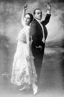 0409943 © Granger - Historical Picture ArchiveMOUVET AND WALTON, c1917.   American dancers Maurice Mouvet and Florence Walton. Mouvet and Walton were married from 1911 to 1920. Photograph, c1917.
