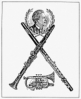 0000236 © Granger - Historical Picture ArchiveMUSICAL INSTRUMENTS AD.   American advertisement, c1895, for C.G. Conn musical instruments.