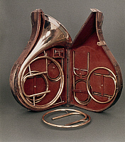 0050887 © Granger - Historical Picture ArchiveFRENCH HORN, 1797.   French Horn made by L.R. Rauox, Paris, c1797.