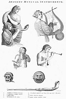 0055002 © Granger - Historical Picture ArchiveMUSICAL INSTRUMENTS.   A variety of ancient musical instruments. Stipple engraving, early 19th century.