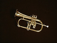 0372588 © Granger - Historical Picture ArchiveMUSICAL INSTRUMENT.    Brass. FLUGELHORN by Besson. Full credit: Chris Stock / Lebrecht Music & Arts / Granger, NYC -- All Rights Reserved.