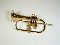 0372589 © Granger - Historical Picture ArchiveMUSICAL INSTRUMENT.    Brass. FLUGELHORN by Besson. Full credit: Chris Stock / Lebrecht Music & Arts / Granger, NYC -- All Rights Reserved.