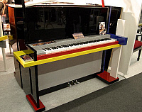 0373529 © Granger - Historical Picture ArchiveMUSICAL INSTRUMENT.    Upright piano by Fenner - exhibited at the Frankfurt music Fair 2005. Multi-coloured instrument with an avant-garde look. Full credit: Chris Stock / Lebrecht Music & Arts / Granger, NYC -- All rights reserved.