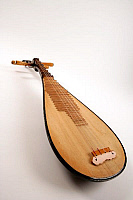 0395580 © Granger - Historical Picture ArchiveMUSICAL INSTRUMENT.   Chinese pipa, or short-necked lute, tradtional instrument of china made with shallow piriform body, wooden soundboard and frets and four strings tuned to E, A, B, E. Full credit: Chris Stock / Lebrecht Music & Arts / Granger, NYC -- All Rights Reserved.