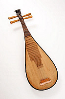 0396163 © Granger - Historical Picture ArchiveMUSICAL INSTRUMENT.   Pipa, or chinese lute, traditional stringed instrument of China made with a shallow piriform body, wooden soundboard and frets. Full credit: Chris Stock / Lebrecht Music & Arts / Granger, NYC -- All rights reserved.