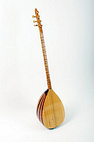 0396279 © Granger - Historical Picture ArchiveMUSICAL INSTRUMENT.   Saz, long-necked saz, stringed instrument from Turkey or Armenia with a bowl-shaped back and movable frets. Full credit: Chris Stock / Lebrecht Music & Arts / Granger, NYC -- All rights reserved.