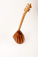 0396280 © Granger - Historical Picture ArchiveMUSICAL INSTRUMENT.   Saz, long-necked saz, stringed instrument from Turkey or Armenia with a bowl-shaped back and movable frets. Full credit: Chris Stock / Lebrecht Music & Arts / Granger, NYC -- All rights reserved.