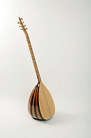 0396281 © Granger - Historical Picture ArchiveMUSICAL INSTRUMENT.   Saz, long-necked saz, stringed instrument from Turkey or Armenia with a bowl-shaped back and movable frets. Full credit: Chris Stock / Lebrecht Music & Arts / Granger, NYC -- All rights reserved.