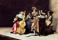 0019791 © Granger - Historical Picture ArchiveOLIS: A MUSICAL PARTY.   Oil on wood by Jan Olis, 1633. RESTRICTED OUTSIDE US.
