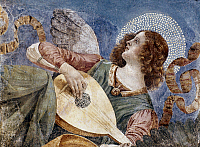 0026888 © Granger - Historical Picture ArchiveANGEL WITH A LUTE.   Fragment of a fresco, c1481, by Melozzo da Forli.
