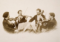 0039774 © Granger - Historical Picture ArchiveFLONZALEY QUARTET, c1900.   Contemporary photograph.