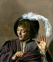0046658 © Granger - Historical Picture ArchiveHALS: BOY WITH FLUTE.   Boy with a flute. Oil on canvas by Frans Hals.