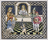 0085382 © Granger - Historical Picture ArchiveCONCERT, c1500.   Woodcut from Luigi Pulci's 'Driadeo d'Amore,' Venice, Italy, c1500.