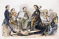 0085383 © Granger - Historical Picture ArchiveSTRING QUARTET, 1846.   Wood engraving, English, 1846.