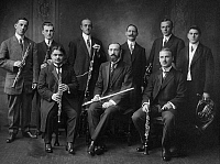 0097313 © Granger - Historical Picture ArchiveWOODWIND ENSEMBLE.   American photograph, early 20th century.