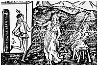 0113694 © Granger - Historical Picture ArchiveITALIAN DANCERS, c1600.   Italian couple dancing to bagpipes. Woodcut, Italian, c1600.