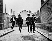 0121796 © Granger - Historical Picture ArchiveTHE BEATLES, 1964.   Scene from the film 'A Hard Day's Night' directed by Richard Lester, 1964.
