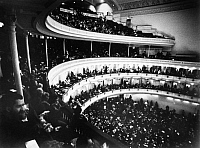 0124555 © Granger - Historical Picture ArchiveCARNEGIE HALL: INTERIOR.   View of the audience at a sold out concert in Carnegie Hall, New York, c1975.