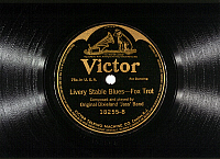 0174932 © Granger - Historical Picture ArchiveJAZZ RECORD, 1917.   Record of 'Livery Stable Blues' recorded by the Original Dixieland 'Jass' Band in 1917.