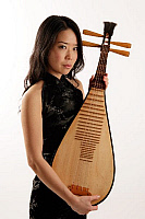 0397153 © Granger - Historical Picture ArchiveMUSICIAN AND INSTRUMENT.    Woman holding a pipa, or Chinese lute. Full credit: Chris Stock / Lebrecht Music & Arts / Granger, NYC -- All Rights Reserved.