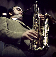 0399590 © Granger - Historical Picture ArchiveJAZZ MUSIC.    Joe Farrell in Copenhagen, October 1968. JF: American jazz saxophonist and flutist, 16 December 1937 - 6 January 1986. Full credit: JazzSign / Lebrecht Music & Arts / Granger, NYC -- All rights reserved.