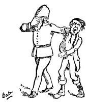 0066190 © Granger - Historical Picture ArchivePIRATES OF PENZANCE.   Opera by Gilbert and Sullivan. 'A policeman's lot is not a happy one.' Drawing by William Schwenck Gilbert from his 'Bab Ballads.'