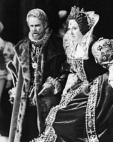 0125465 © Granger - Historical Picture ArchiveOPERA: ROBERTO DEVEREUX.   Beverly Sills as Elizabeth I and Richard Fredericks as the Duke of Nottingham in a performance at New York City Opera, c1975, of 'Roberto Devereux' by Gaetano Donizetti.