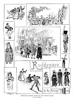 0268390 © Granger - Historical Picture ArchiveOPERA: RUDDYGORE, 1887.   Scenes from the comic opera, 'Ruddygore,' written by Gilbert and Sullivan, performed at the Savoy Theatre in London. Engraving, English, 1887.