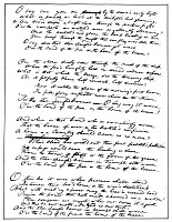 0004382 © Granger - Historical Picture ArchiveSTAR SPANGLED BANNER, 1814.   Francis Scott Key's manuscript of 'The Star Spangled Banner,' which he wrote at the Fountain Inn, Baltimore, after witnessing the British bombardment of Fort McHenry on September 13-14, 1814.