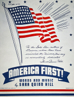 0007309 © Granger - Historical Picture ArchiveWORLD WAR II: SONGSHEET.   'America First!' American sheet music cover, 1940, favoring isolationism from the war in Europe.