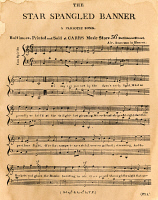0009776 © Granger - Historical Picture ArchiveSTAR SPANGLED BANNER, 1814.   The first page of the first printed sheet music edition of Francis Scott Key's