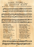 0010647 © Granger - Historical Picture ArchiveYANKEE DOODLE MUSIC, 1775.   The first publication of 'Yankee Doodle' as sheet music, London, 1775.