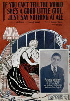 0117873 © Granger - Historical Picture ArchiveSHEET MUSIC COVER, 1926.   American sheet music cover, 1926, for the song 'If You Can't Tell the World She's a Good Little Girl, Just Say Nothing at All,' with lyrics by Al Dubin and Irving Kahal and music by Sammy Fain, and featuring a photograph of Chicago bandleader Benny Meroff at lower right.