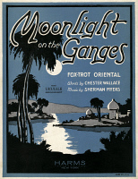 0117888 © Granger - Historical Picture ArchiveSHEET MUSIC COVER, 1926.   American sheet music cover, 1926, for 'Moonlight on the Ganges,' an oriental fox trot.