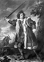 0014095 © Granger - Historical Picture ArchiveSHAKESPEARE: RICHARD III.   English actor David Garrick (1717-1779) in the title role of William Shakespeare's 'Richard III.' Mezzotint, 1825, by Samuel William Reynolds after a painting by Nathaniel Dance-Holland.