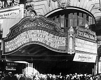 0029693 © Granger - Historical Picture ArchiveVAUDEVILLE THEATRE, 1929.   The marquee of Benjamin Franklin Keith's vaudeville theatre, the 'Palace,' 1929.