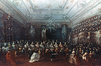 0035576 © Granger - Historical Picture ArchiveGUARDI: CONCERT IN VENICE.   Oil on canvas; mid-18th century, by Francesco Guardi.